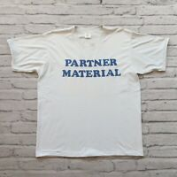 Vintage New 80s Partner Material Yes ABC 1986 Tshirt Made in USA Single Stitch