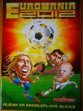 Complete EURO 2012 Poland & Ukraine Football Caricatures Album & Panini Sticker