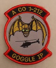 "2000'S A CO 1ST OF 212TH  ARMY AVN CO PATCH ""GOOGLE IP"" EMB ON TWILL M.E."