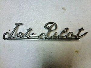 "Vintage 1950s 1960s "" Jet Pilot Emblem Custom Rat Rod Chevrolet Ford Chrysler !"