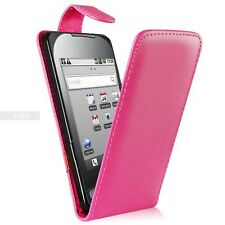 Pink Flip Case Pouch PU Leather Cover For Samsung Galaxy Europa GT-I5500