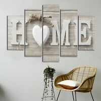 5Pcs Love Home Art Canvas Print Painting Picture Wall Home Room Decor