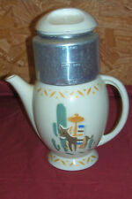 Vintage Southwest Mexican Coffee Tea Pot Maker Porcelier Vitreous China Western