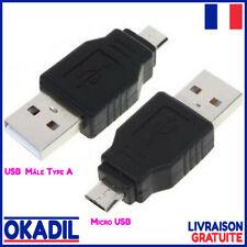 🔴 Adaptateur USB 2.0 Mâle Type A vers Micro USB Mâle 5 Broches