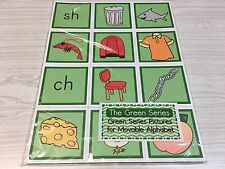 The Green Series - Pictures For Movable Alphabet - Montessori