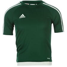 adidas Kids 3 Stripe Estro T Shirt Junior Boys Short Sleeved Tee Top age 7--13