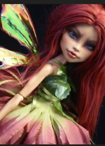 Ooak Custom Repaint Monster High Nefera de Nile by Podly dolls Autumn Fury Fairy