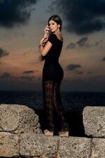 AM:PM Black Lace Overlay Maxi Dresss, Size L, 12-14