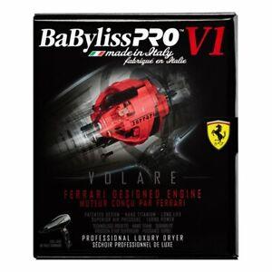 NEW!!! BLACK BABYLISS PRO NANO TITANIUM VOLARE V1 FERRARI HAIR BLOW DRYER # BFV1