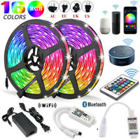 5-20M 5050 3528 RGB SMD LED Strip Light+Bluetooth WiFi Remote 12V Power Supply
