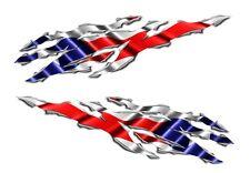 Puerto Rico Flag Rip Motorcycle Sticker Decal Yamaha YZF Suzuki GSXR Kawasaki