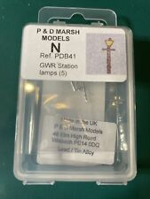 P&D Marsh N Gauge N Scale B41 GWR Station lamps (5) castings require apinting