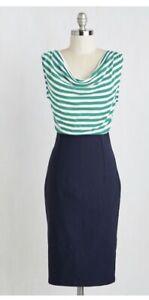 NEW Rock Steady Cowl Neck Navy Dress Size 2x