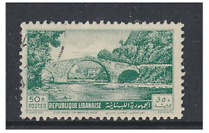 Lebanon - 1951, 50p Bridge stamp - F/U - SG 437