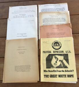 c1970 PEOPLE AGAINST RACISM PAR BOOKLETS & ARTICLES ANTI-RACIST ORGANIZATION++