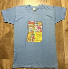 VTG 70S T-SHIRT MOM OF THE YEAR SINGLE STITCH Thin Graphic Tee ANIMATED EUC BLUE