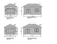 Hip Roof One Car Garage 22'X14' Hip Roof Plan Print One Car Plan #17-1422Hip-1