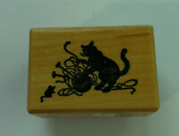 Personalized Custom Handmade Knitting by Handle Mounted Rubber Stamp RE738