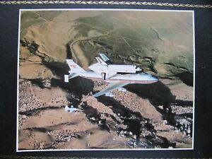 NASA SPACE SHUTTLE COLUMBIA BOEING B-747 PHOTO CARD 8''x10'' 20x25cm USA no post