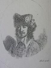 S. DELLA BELLA ´PORTRAIT, MANN MIT BART UND KAPPE; MAN WITH CAP´ VESME 309, 1650