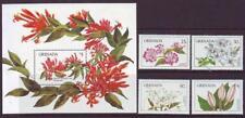 GRENADA 1984 FLOWERS SET 4 + MINISHEET  MINT NEVERHINGED
