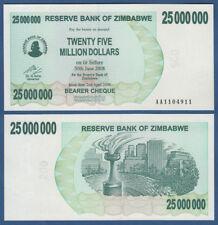 SIMBABWE / ZIMBABWE 25.000.000 Dollars 2008 UNC  P. 56