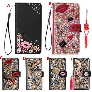 for LG Velvet/V60/K51/Stylo 6/Wing 5G/K22 Cases Bling Wallet Leather Phone Cover