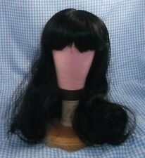 Vintage Black Doll Wig sz 11 bangs & long hair style Tallinas in package