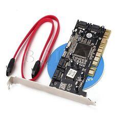 SUPPORTO 3TBx4 HDD 2 SATA cavi-PCI per 4 Porte Sil3114 CONTROLLER SCHEDA RAID