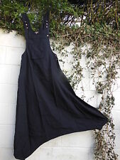 QUIRKY HAREM PARACHUTE DUNGAREES JUMPSUIT BLACK S/M BNWT ETHNIC BOHO HIPPY ARTY