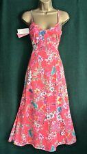 Monsoon Lindsay Red Floral Cotton Summer Dress / Sundress Size 14