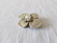 Beautiful Silver Flower Brooch with Pearl