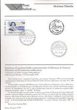 ITALIA 1999 ELEONORA DE FONSECA PIMENTEL  BOLLETTINO COMPLETO DI FRANCOBOLLI FDC