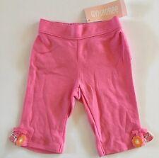 Nwt Gymboree Bright Owl 0-3 Months Pink Knit Ruffle Bottom Pants