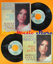 LP 45 7''CARLY SIMON After the storm Nobody does it 1975 italy ELEKTRA cd mc dvd
