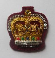 Staff Sergeant Crown, Mess Dress, Army, Medical Cherry, Crowns, RAMC