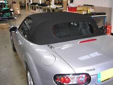 Mazda MX5 MK3 doux Mohair noir Haut hotte / capote fenêtre de verre