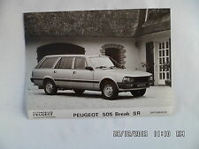 PHOTO DE PRESSE PEUGEOT 505 BREAK SR Septembre 1982    E101