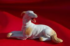 Antique Porcelain dog Borzoi Russian Wolfhound Sighthound GERMANY gorgeous! *