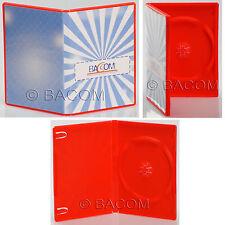 50 Custodie DVD Singole Rosse - BOX Rossa per 1 DVD/CD Spedizione Gratuita!