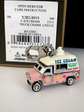 NEW NIB JUICY COUTURE AUTHENTIC SILVER 3D ICE-CREAM TRUCK BRACELET CHARM NWT