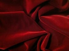 """Red Velvet Flocking Drapery Upholstery Fabric - Sold By The Yard - 60"""""""