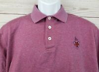 Mens Marbas Golf Polo Short Sleeve Shirt Magenta Size Large