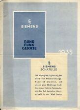 Siemens radios cajita de secretos folleto lista de precios 1935 radio