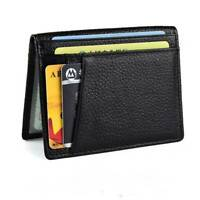 Men Business Slim Soft Wallet Genuine Leather Mini Credit ID Card Holders