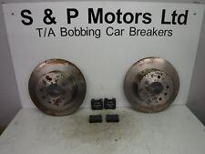 Vauxhall Rear Brake Discs & Pads Solid Pair Genuine GM 93182599