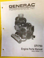 Dixie Chopper Generac Gtv 760 Engine Parts Manual Model 005058-1,2,3 ( Box19E)