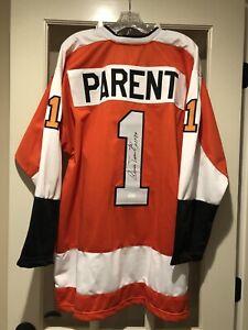 Bernie Parent Signed Philadelphia Flyers XL Jersey Autographed HOF84 Authentic