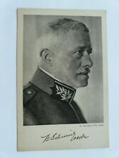 WW1 Swiss Military Leader--Original Postcard (180)