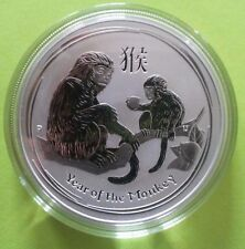 2016 ~ PURE .999 SILVER ~ 1~OZ~ YEAR of the MONKEY ~ PERTH MINT CAPSULE ~ $38.88
